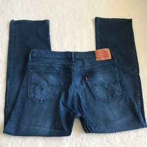 Levis 569 Mens Dark Wash Straight Denim Jeans